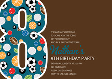 Soccer Number Eight Chocolate Invitations