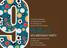 Soccer Number Nine Chocolate Invitations