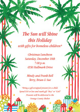 Sparkling Tropical Holiday Trees Invitation