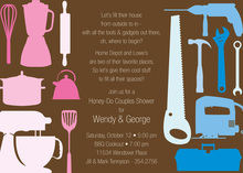 House Tools Shower Chocolate Invitations
