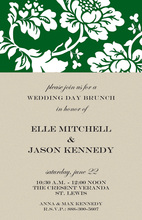 Silhouette Spring Floral Invitations