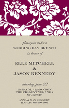 Contemporary Minimalist Floral Invites