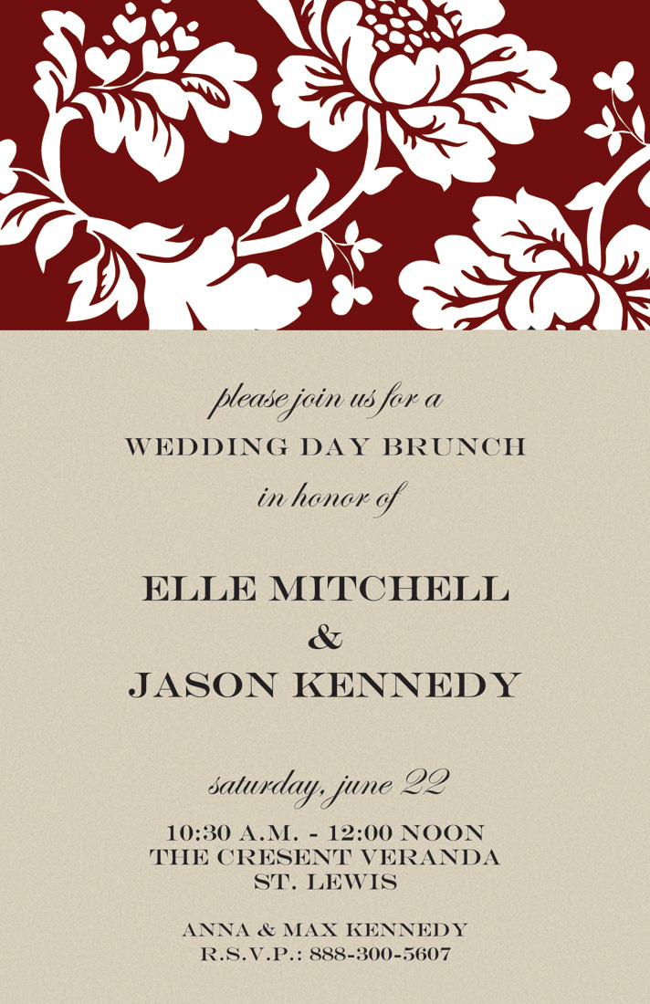 Silhouette Contemporary Floral Invites