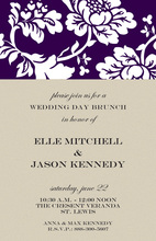 Splendid Silhouette Floral Invitations