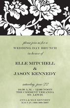 Dazzling Silhouette Floral Invitations