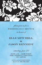 Pleasing Silhouette Floral Invitations