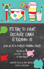 Painting Polka Dots Invitation