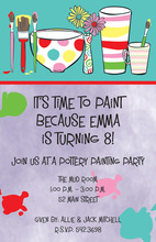Art Painting Brushes Invitation