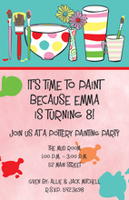 Painting Splash Party Invitations