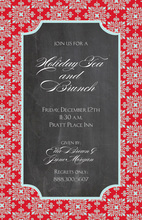 Red Flourish Chalkboard Invitations