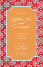 Modern Flourish Orange Invitations