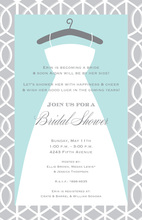 Trellis Dress Wedding Shower Invitations