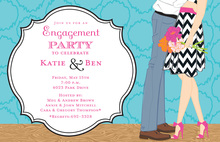 Sweet Love Engagement Invitations