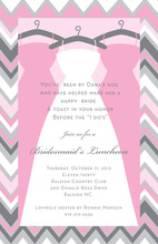 Chevron Maids Bridal Shower Invitations