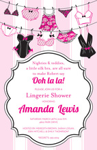 Sexy Lingerie String Collection Invitations