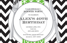 Chevron Plate Invitations
