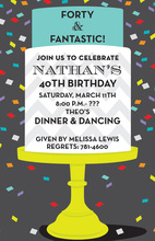 Confetti Party Birthday Cake Invitations