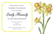Elegant Daffodils Shower Invitations