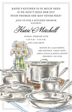Stainless Steel Cookware Kitchen Invitations