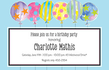 Crazy Party Balloons Invitation