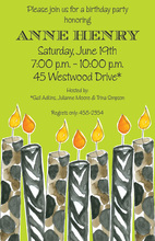 Classy Candle Craze Party Invitations
