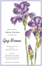 Elegant Iris Shower Invitations