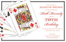 Traditional Playing Cards Invitation