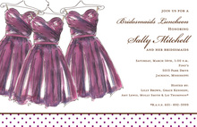 Formal Elegant Maids Invitation