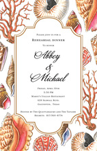 Spectacular Sea Coral Reef Invitations