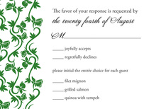 Modern Green Vines RSVP Cards