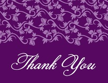 Rich Purple Vines Thank You Cards