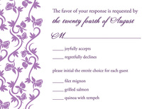 Rich Purple Vines RSVP Cards
