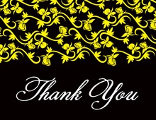 Vines Bright Yellow Thank You Cards