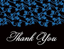 Rich Blue Thank You Cards