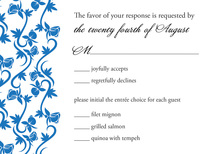 Rich Blue RSVP Cards