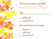 Bright Blooms RSVP Cards
