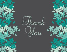 Green-Teal Blooms Thank You Cards