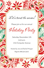Festive Holiday Red Border Invitation