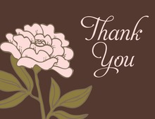 Vintage Carnation Thank You Cards