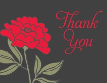 Beauty Red Thank You Cards