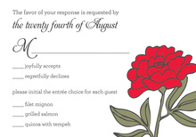 Beauty Red RSVP Cards