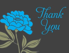 Simple Blue Thank You Cards