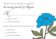 Simple Blue RSVP Cards