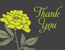 Simply Yellow Thank You Cards