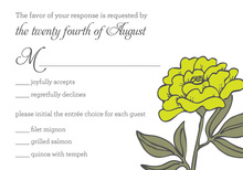 Simply Yellow RSVP Cards