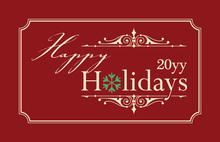 Simple Happy Holidays Folded Greeting Cards