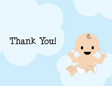 Floating On Clouds Thank You Cards