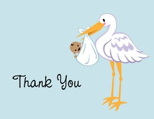 Traditional Stork Thank You Cards