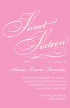 Fancy Sweet Sixteen Pink Birthday Invitations
