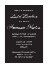 Something Pure White Border Invitations